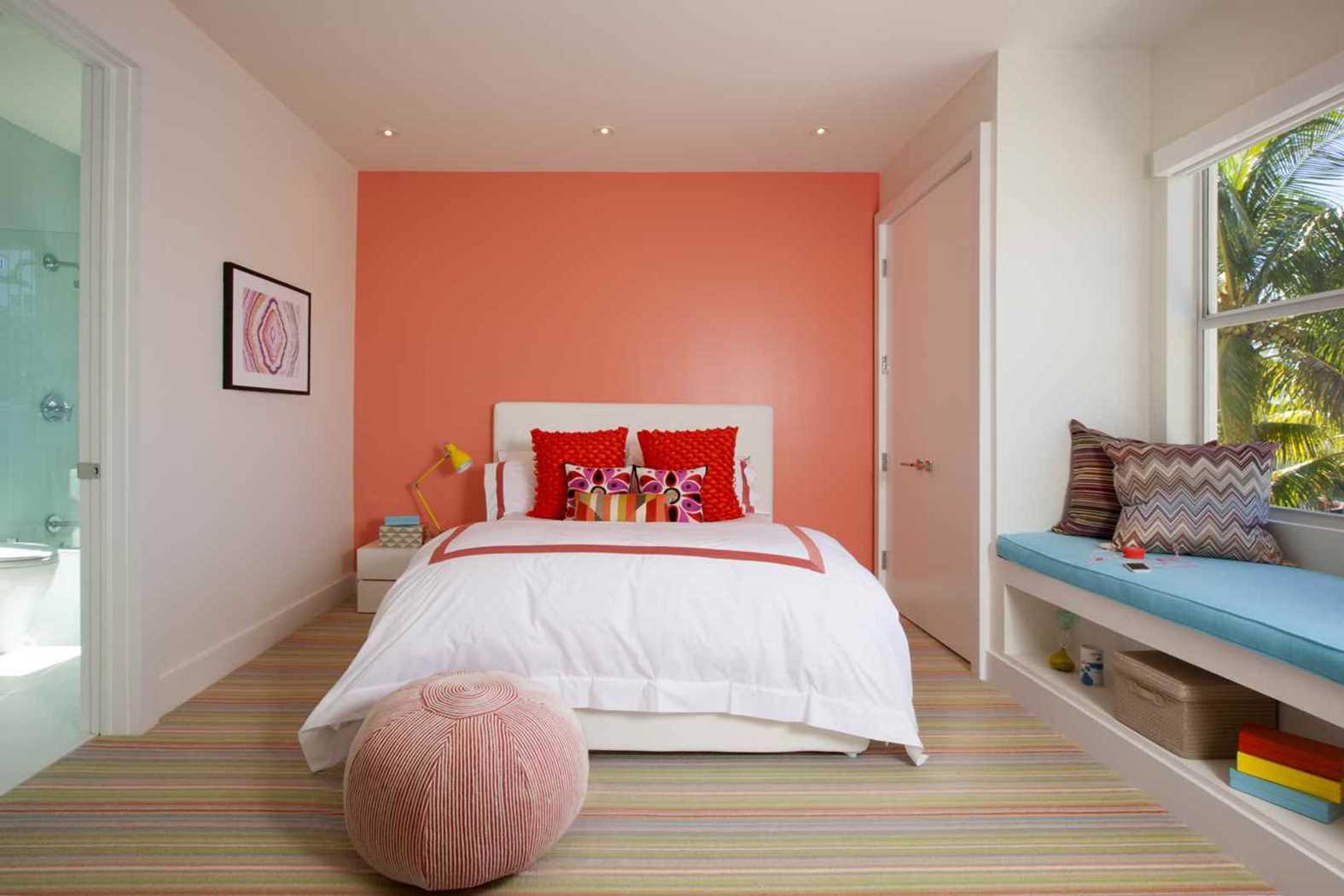 Дизайн комнаты персиковый цвет