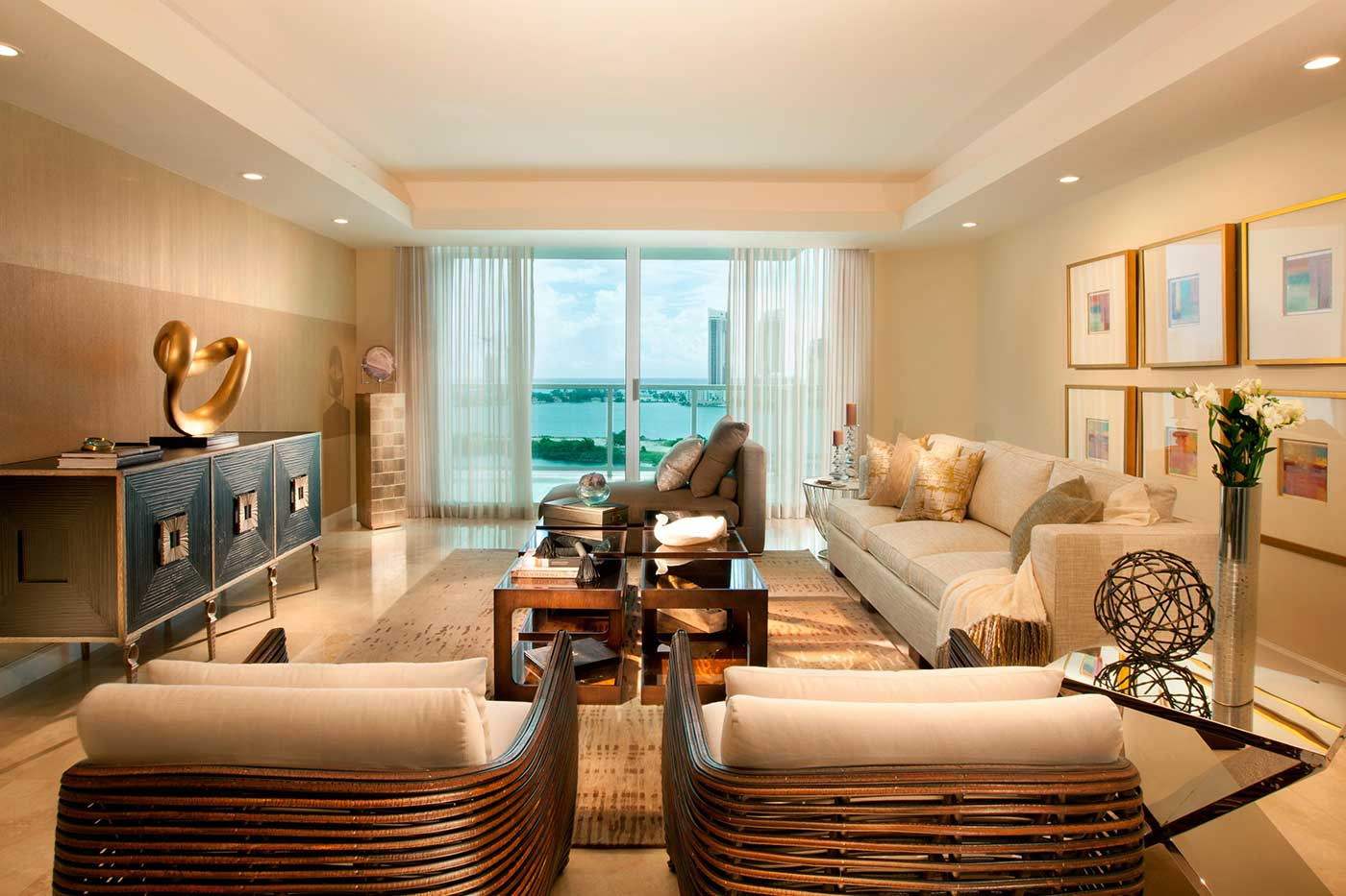 Miami Interior Design - Sablosky Living Room